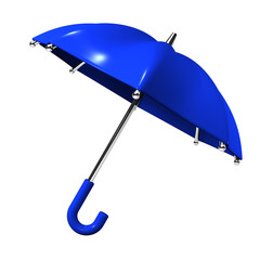 Slanting Blue Umbrella