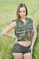 beautiful military woman