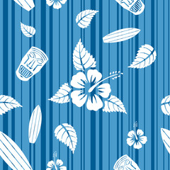 Vector seamless Hawaiian pattern
