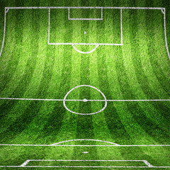 Wand und Boden als Fussballfeld