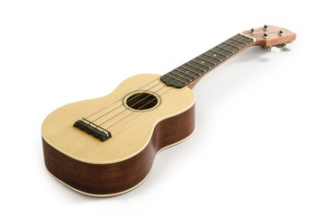 Ukulele guitar isolated on white Clipping path included