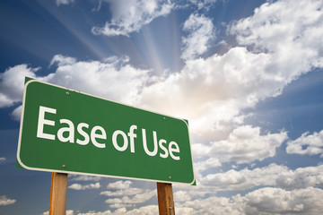 Ease of Use Green Road Sign