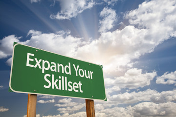 Expand Your Skillset Green Road Sign