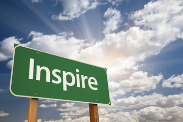 Inspire Green Road Sign