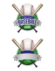 Baseball Emblems Illustration