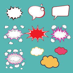 Set of comic speech bubbles, vector format