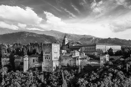 Ancient arabic fortress of Alhambra, Granada, Spain. - 67021973