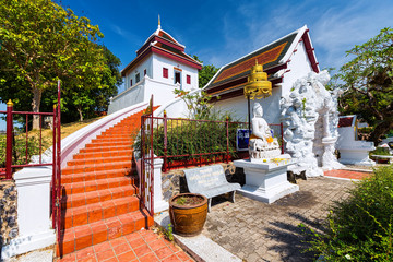 Walk up the temple in Nakhonsithammarat Thailand.
