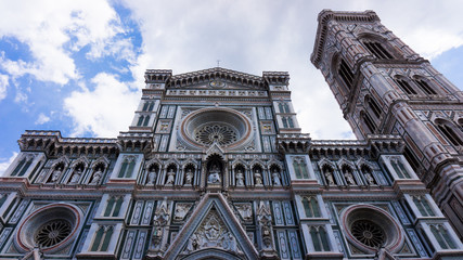 Facade of the Basilica di Santa Maria del Fiore (Basilica of Sai