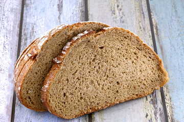 A closeup of whole wheat brown bread
