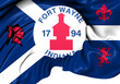 Flag of Fort Wayne, USA.
