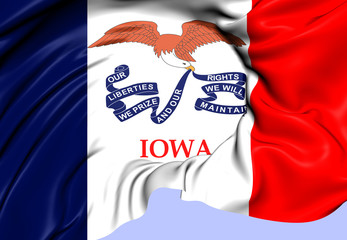 Flag of Iowa, USA.