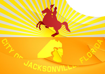 Flag of Jacksonville, USA.