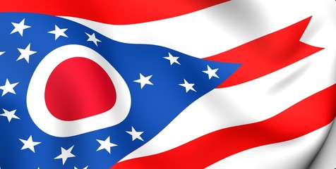 Flag of Ohio, USA.
