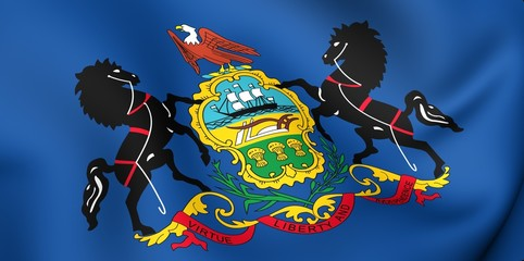 Flag of Pennsylvania, USA.