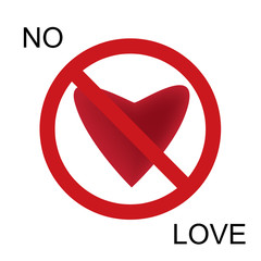 Vector No love label