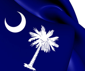 Flag of South Carolina, USA.