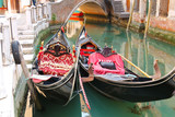 Gondola Service on the canal in Venice, Italy