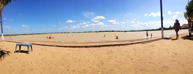 playa en laguna
