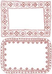 額縁フレーム 刺繍レース