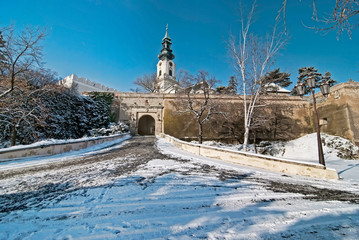 Nitra castle in Winter