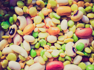 Retro look Beans salad