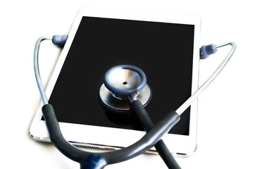 Stethoscope with tablet computer