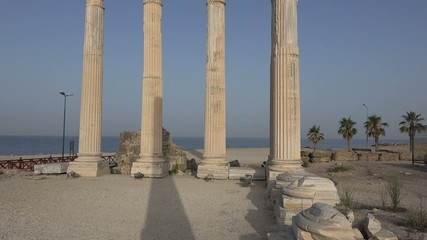 The ruins of ancient buildings, the classic Greek columns