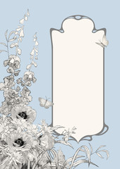 Art Deco Frame Botanical Composition