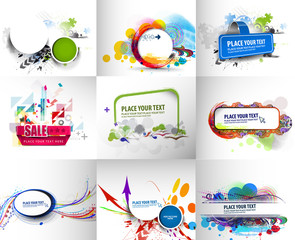Set of Advertisement Banner Template.