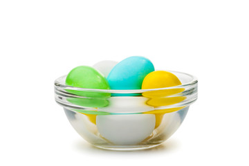 Colored Eggs in Cup