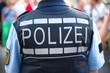 Leinwanddruck Bild - Polizei