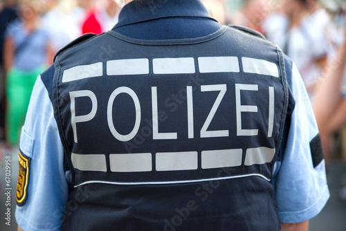 Leinwanddruck Bild Polizei