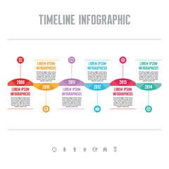 Infographic Vector Concept - Timeline Template