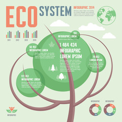 Ecology System - Infographic Concept - Green Tree