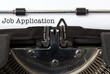 Job Application, written on vintage typewriter