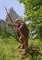 Jäger und Bogenschütze aus dem Mittelalter