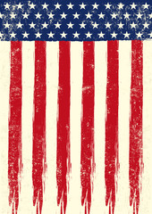 scrathed flag of USA