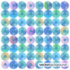 Colorful flowers. Vector background design