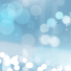 Lights, highlights, effect  blurred background. Vector blue