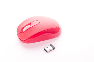 Red cordless mouse for PC