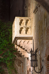 Balcony of Juliet Capulet Home at night in Verona, Italy