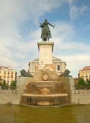 Isabel II statue in Madrid, Spain