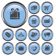 Shopping button set