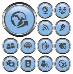Social network button set