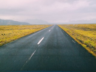 Road to nowhere in Iceland