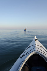 Kayaks on Lake Ontario