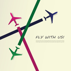 Airplanes - Fly with Us - Corporate Identity Concept