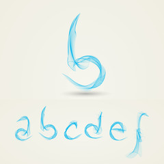 Wavy Alphabet Letters - Abstract Design