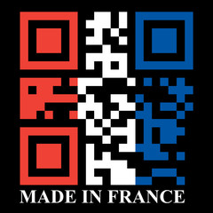 French QR code flag, vector